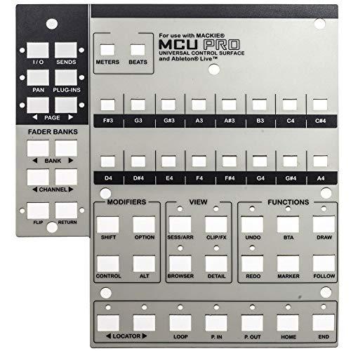 Mackie Universal Control Oberfläche MCU Pro Lexan Overlay für Ableton Live -