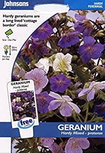 johnsons seeds - Pictorial Pack - Fiore - Geranio Hardy Mix - pratense - 15 Semi