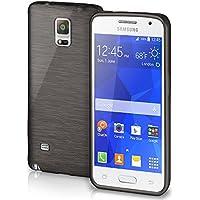 Cover di protezione Samsung Galaxy Note 4 Custodia Case silicone sottile 1,5mm TPU | Accessori Cover cellulare protezione | Custodia cellulare Paraurti Cover Spazzolata Look DEEP-BLACK