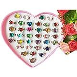 36 PCS Los anillos brillantes de la muchacha de los cabritos fijaron el regalo del partido / de la boda Niza