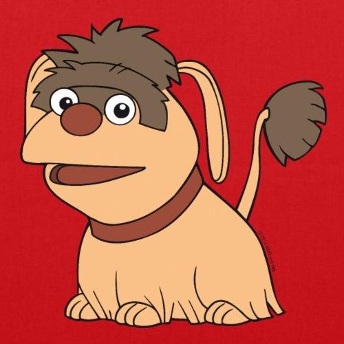 Spreadshirt Sandmännchen Und Seine Freunde Hund Moppi Stoffbeutel Rot