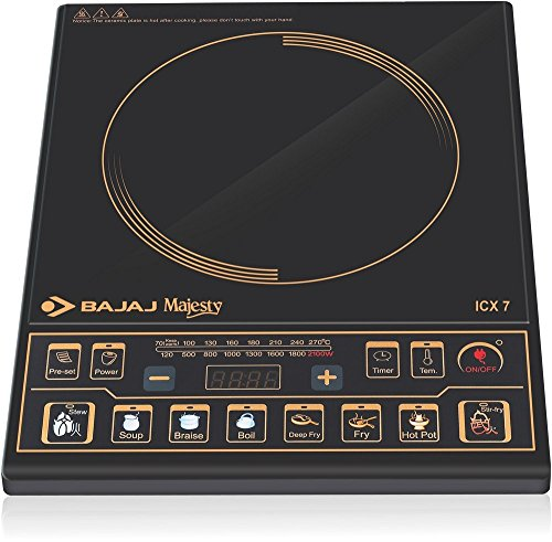 Bajaj Majesty ICX 7 1900-Watt Induction Cooktop (Black)