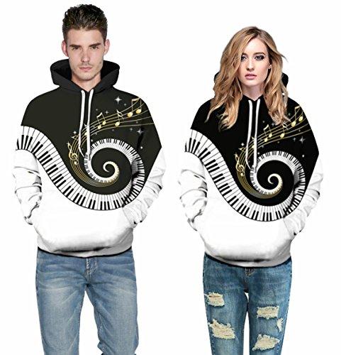 AMOMA Jungen digitaldruck Kapuzenpullover Tops Fashion Hoodie Pullover Hooded Sweatshirt Melody