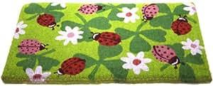 Monpaillasson - Paillasson Coccinelles Fond vert - 42 x 72 cm