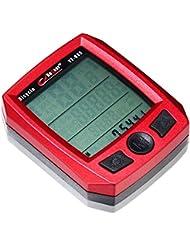 Xcellent Global Cuentakilómetros Multi Función LCD para Ciclismo Xcellent Global Velocímetro Cronómetro impermeable con LUZ NOCTURNA en Negro M-FS020
