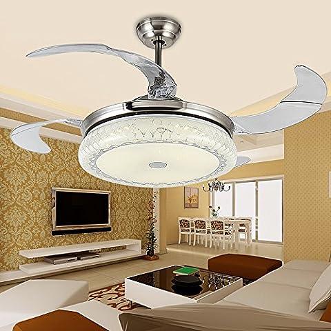 CLG-FLY fan rétro led luce stealth soggiorno ristorante American creative ventilatore da soffitto lampada luce Ventilatore da soffitto,42 pollici tri-color + telecomando