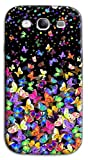 Mixroom - Cover Custodia Case in TPU Silicone Morbida per Samsung Galaxy S3 Neo i9301 i9300 M575 Farfalle