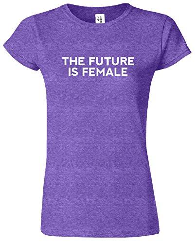 The Future Is Female T-Shirt Madchen Feministes Des Femmes Bruyère Pourpre / Blanc Design