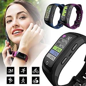 2019 Neue Intelligente Uhr, Multifunktionssportuhr Der MäNner/Frauen/Jungen/des MäDchens,M1S Karte Sport Smart Watch GPS Positionierung Kompass wasserdichte Sportuhr