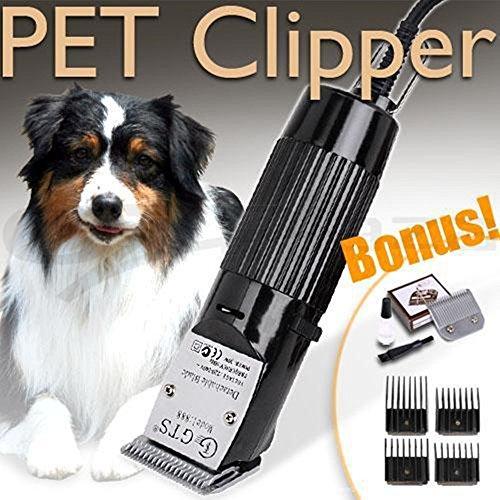 Cortapelos para animales (Kit, cuerda gebunden Silencioso perro Esquiladora Kit 2.8metros eléctrica pelo recorta piel cuidado Kit 12V motor para pequeñas a grandes perros gatos Otros Animales Negro