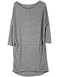 JMTI-Boutique Wolfairy Women s Plus Size Dress Tunic Soft Quirky f8d69962f222