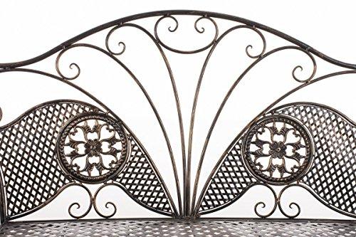 CLP Metall-Gartenbank TJURE im Landhausstil, Eisen lackiert, ca. 140 x 60 cm Bronze - 2