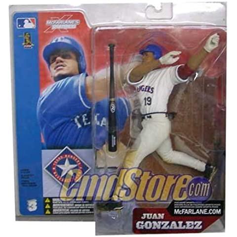 McFarlane Toys MLB Sports Picks Series 3 Action Figure Juan Gonzalez White Jersey Variant by (Gonzalez Jersey)