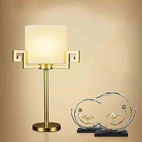 TIAMO Lámpara de cabecera / estudio / cobre / Tela / sala de estar / Hotel / Retro / flor cuadrícula / lámpara de