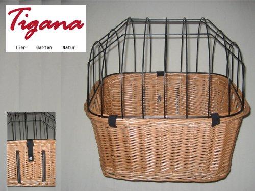 Tigana - Hunde Fahrradkorb aus Weide für den Lenker