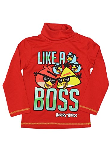 Angry Birds Official Boys Turtle Neck 8Years Red