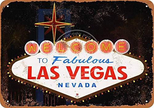 Mr.sign Las Vegas Blechschilder Vintage Metall Poster Warnschild Retro Schilder Blech Blechschild Wanddekoration Malerei Bar Cafe Restaurant Garten Park (Las Vegas Sign Poster)