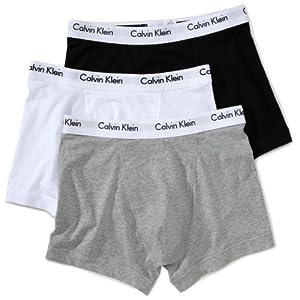 Calvin Klein Herren Boxershorts TRUNK, 3er Pack U2662G, Mehrfarbig (schwarz/weiß/grau), Gr. L