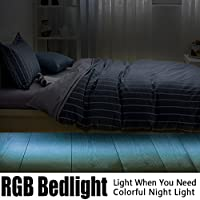 Iwonderful Automatico movimento attivato uce di striscia principale 24 colore cambiamento luce letto luce notturna con telecomando (raddoppiare)