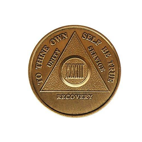Preisvergleich Produktbild 33 Year Bronze AA (Alcoholics Anonymous) - Sober / Sobriety / Birthday / Anniversary / Recovery / Medallion / Coin / Chip