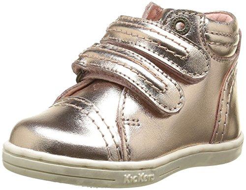 Kickers Trackpad, Chaussures Premiers Pas Bébé Fille, Rose (Rose Métallique), 21 EU