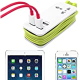 USB Power Strip, USB Charging Travel Adapter, Portable Travel Charger Station With 1 Universal AC Sockets + 4 Fast Charge USB Ports