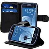 kwmobile Funda para Samsung Galaxy S3 Mini - Wallet Case plegable de cuero sintético - Cover con...