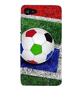 Colourful Football 3D Hard Polycarbonate Designer Back Case Cover for Lenovo ZUK Z2 :: Lenovo Z2 Plus