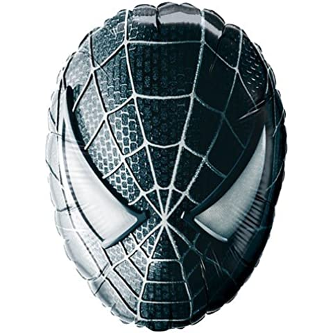 Black Spiderman Mask 27 Inch Supershape Foil Balloon (máscara/ careta)