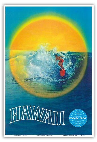 hawai-pan-american-airlines-paa-surfeur-hawaien-vintage-hawaiian-travel-poster-c1960-reproduction-pr