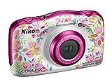 """Nikon Coolpix W150 Fotocamera Digitale Compatta, 13.2 Megapixel, LCD 3"""", Full HD, Impermeabile, Resistente agli Urti, alle Basse Temperature e alla Polvere, Flowers [Nital Card: 4 Anni di Garanzia]"""