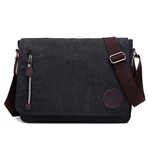 WeeDee Umhängetasche Aktentasche Laptoptasche 13,3 Zoll Messenger Bag Schultasche Lehrertasche Schultertasche (Schwarz) 100 Gas-geschenk-karte