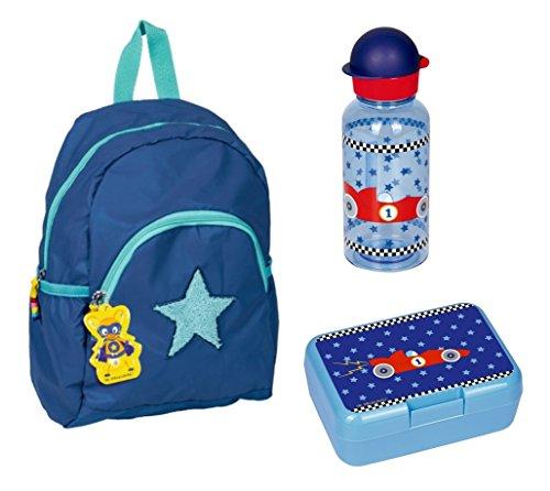 Spiegelburg Mini-Ranzen Capt`n Sharky 3tlg. Set mit Brotdose und Trinkflasche z.B. für den Kindergarten CCS30499