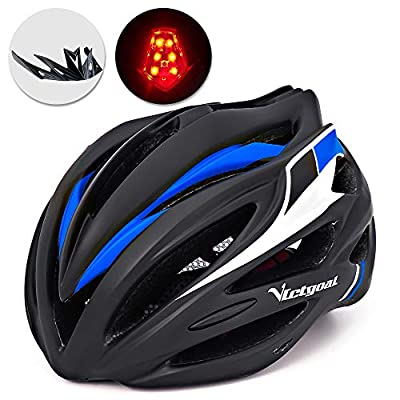 Victgoal Bike Helmet with Visor LED Taillight Insect Net Padded Road Mountain Bike Cycling Helmet Lightweight Cycle Bicycle Helmets for Adult Men and Women from Victgoal