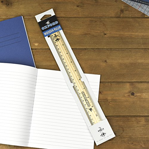 Helix Oxford Vintage 30cm Wooden Ruler