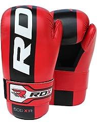 RDX Guantes De Contacto Semi Patada Muay Thai Boxeo MMA Karate Karate Taekwondo Tkd