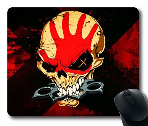 Preisvergleich Produktbild Gaming Mouse Pad, Five Finger Death Punch Skull Personalized MousePads Natural Eco Rubber Durable Design Computer Desk Stationery Accessories Gifts For Mouse Pads