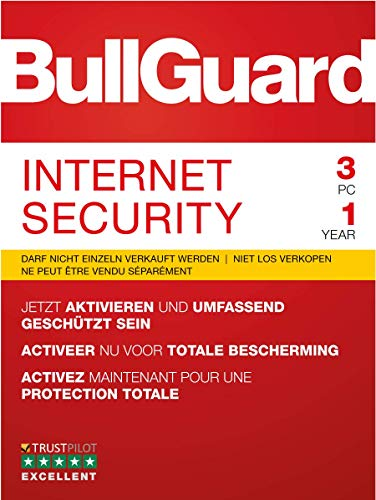 BullGuard Internet Security 2019 1J/3 Geräte Windows|Standard/Upgrade/Home/Personal/Professional usw.|3 Gerät|1 Jahr|PC|Download|Download