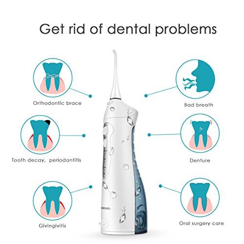 Idropulsore Dentale, BROADCARE Irrigatore Orale Portatile per Igiene Dentale
