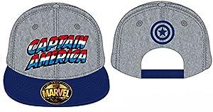 Marvel Capitán América Logo Snapback Cap (azul/gris)