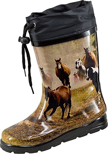 Nora Kids Wellies Women Wild Horses –