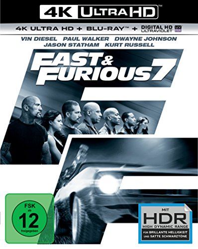 fast 7 blu ray Fast & Furious 7 - Extended Version  (4K Ultra HD) (+ BR) [Blu-ray]