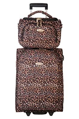 TravelOne - Valise Cabine + Vanity Case - MIAMI LEOPARD