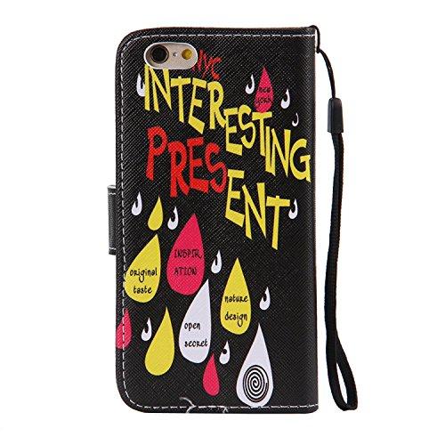 PU Cuir Coque Strass Case Etui Coque étui de portefeuille protection Coque Case Cas Cuir Swag Pour Apple iPhone 6/ iPhone 6S (4.7 pouces)+Bouchons de poussière (O4) 12