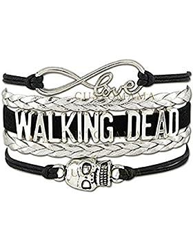 Armband Walking Dead Love Armbrust Daryl Lederarmband Metall Silber Schwarz