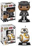 Funko POP! Star Wars The Last Jedi: Finn + BB-8 – Stylized Vinyl Bobble-Head Figure Set NEW