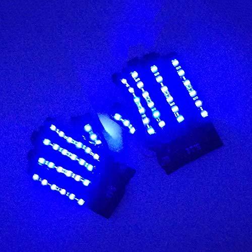LYY.YY Geführt Glühende Handschuhe Bühnenperformance Bar-Leistung Mit LED-Licht Leuchtende Kleidung LED-Brille Laser-Handschuhe