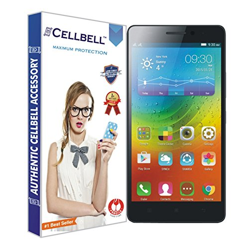 Cellbell Premium Lenovo A7000 / K3 note / K3note  (Clear) Tempered Glass Screen Protector (Comes with Warranty,User guide,Complimentary Prep cloth)