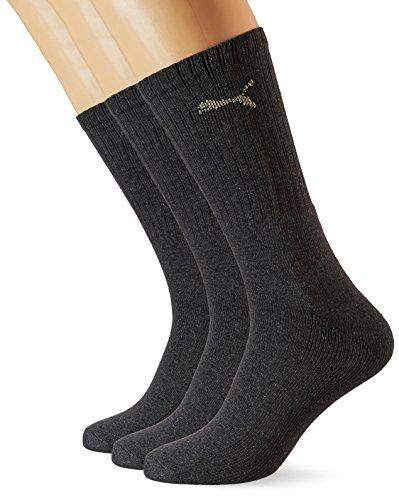 Puma Sport 3P, Calcetines de Deporte Para Hombre, Pack de 3, Gris (Antracita), 43-46