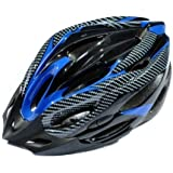 Lixada New Fashion Sports Bike Bicycle Cycling Safety Helmet with Removable Visor Carbon Fiber for Unisex Adult